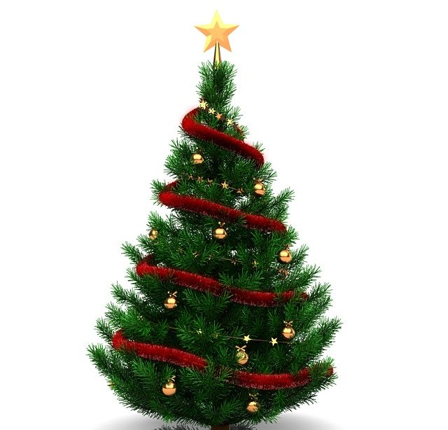 Estrela em cima da árvore de Natal