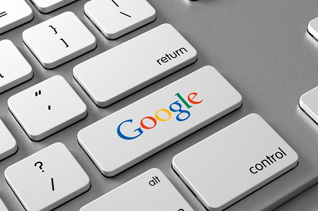 Tecla de computador com o nome Google