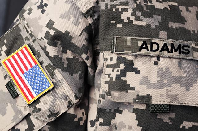 Farda exército americano com sobrenome