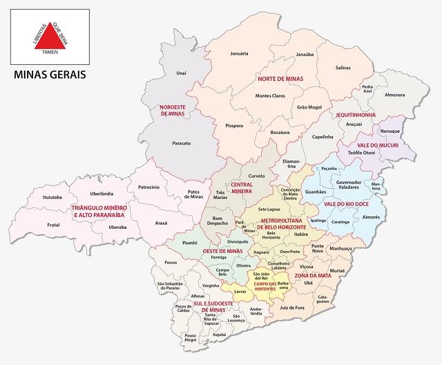 Mapa de Minas Gerais
