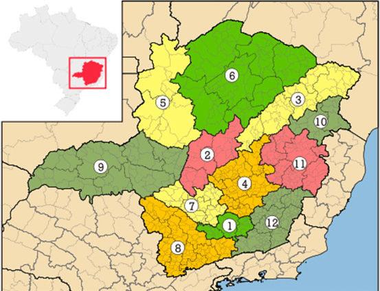 Macrorregiões de Minas Gerais