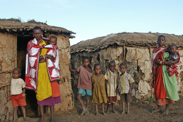 Família pobre africana