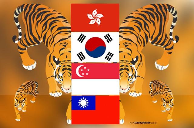 Bandeiras dos Tigres Asiáticos