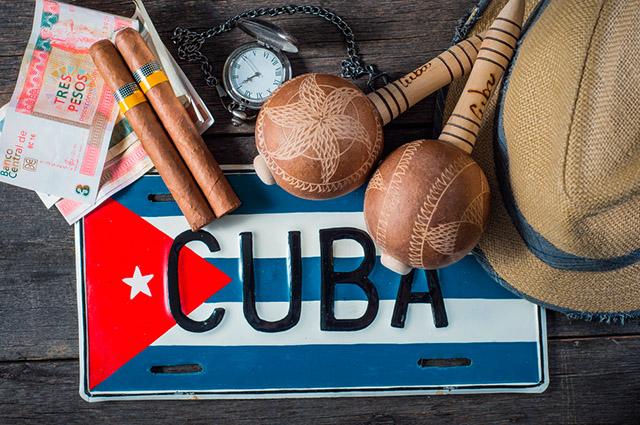Placa com nome Cuba