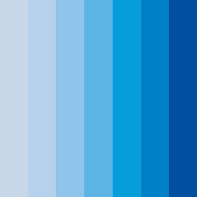 Tonalidades de azul