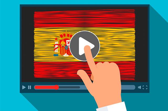 Tela com bandeira da Espanha