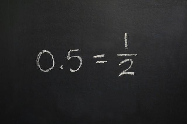 0.5 = 1/2