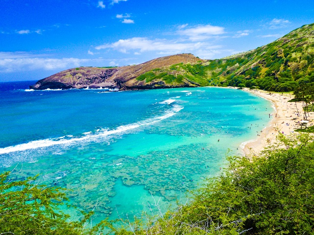 Baía de mergulho no Havaí