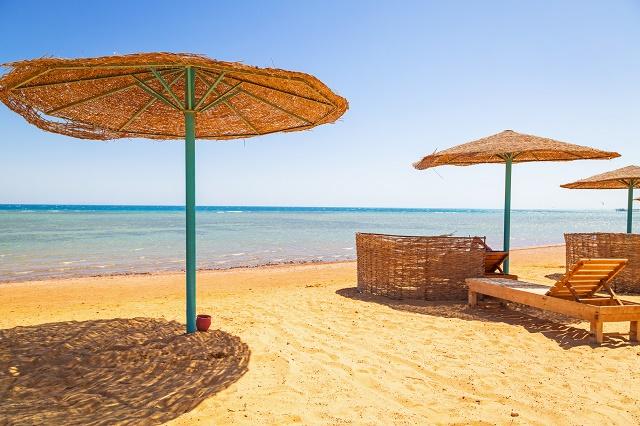 Praia no Egito