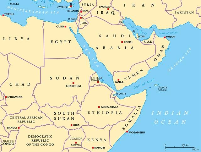 Mapa do Mar Vermelho