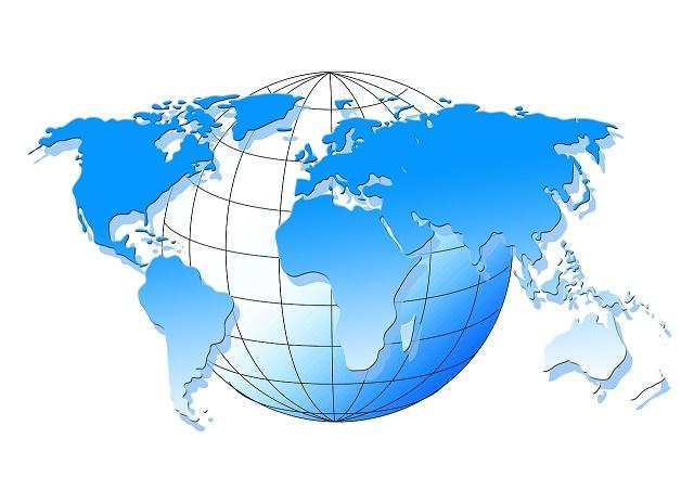 Globo continentes