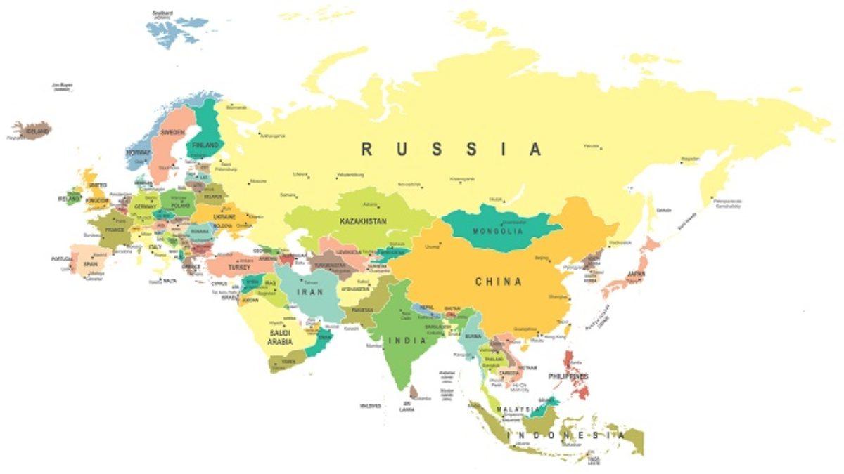 Rio Volga Mapa Fisico.Eurasia O Que E Mapa E Caracteristicas Estudo Pratico