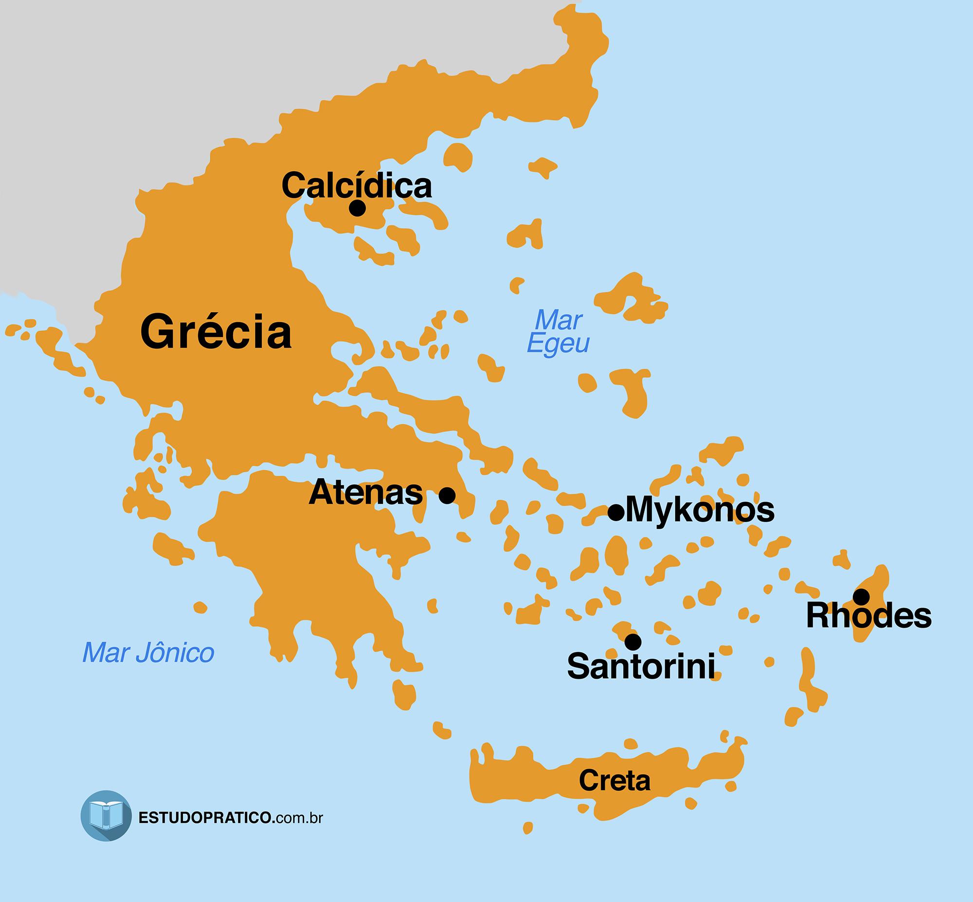 Grecia Antiga Mapa Historia Arte E Politica Estudo Pratico
