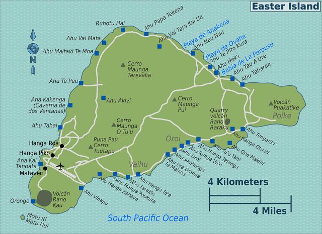 Mapa Ilha de Páscoa